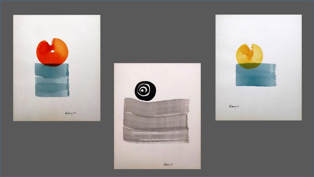 Aquarelles et lavis Carnet P137 ; (37x30,5)