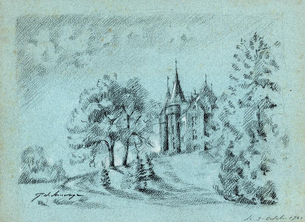 Château de Gougnies 1941 (22,5 x 31)