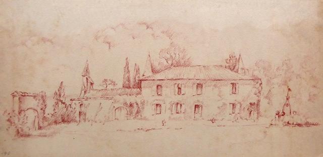 J 54 - Château de Beaupuy (Gers), juillet 1940 (15,5 x 31,5) (1)